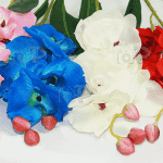 Декоративен стрък Орхидея/изкуствени цветя за декорация