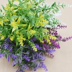 Изкуствен стрък Цветна Трева 20см./декоративна трева