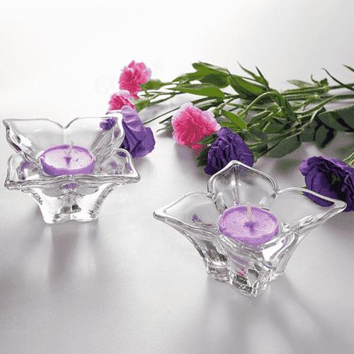 Комплект стъклени свещници 2бр. Lilium/свещник за чаена свещ
