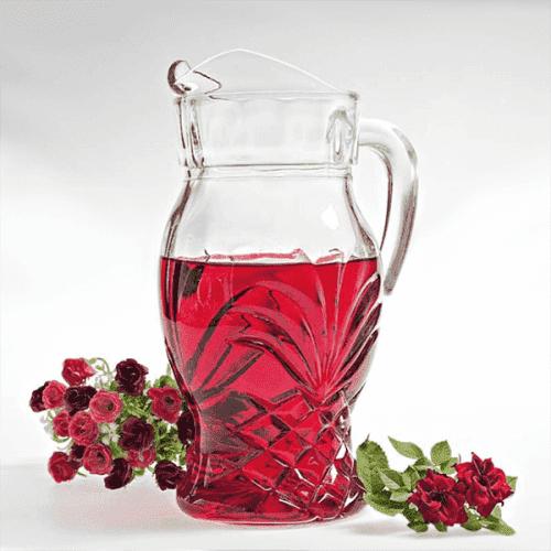 Красива стъклена кана за сок Cuba/стъклени кани