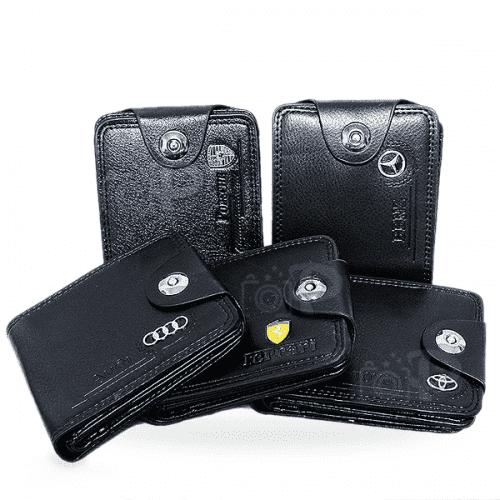 Мъжки портфейл за подарък/портмоне с емблема на автомобили