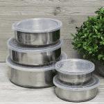 Комплект 5бр. метални кутии с капак/кутия за съхранение