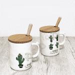 Порцеланова чаша Smile с лъжичка и капаче 1бр./чаши за топли напитки