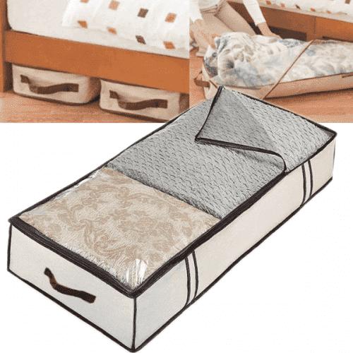 Органайзер/калъф за съхранение на дрехи под легло 80*45см/текстилен органайзер