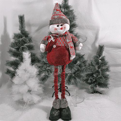 Плюшен Снежко с разтегателни крака 90см./играчка за Коледа