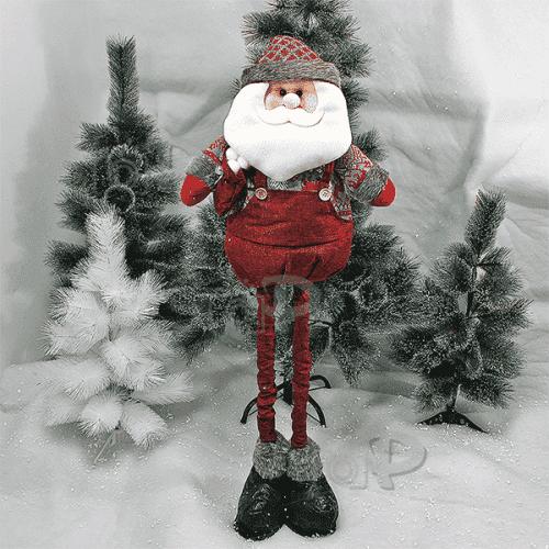 Плюшена фигура Дядо Коледа 90см./декорация за Коледа