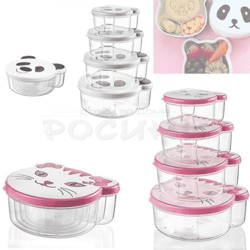 Комплект детски кутии за храна ZOO Hobby Life