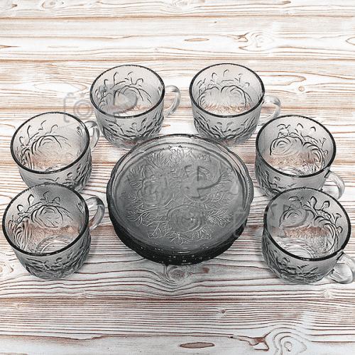 Сервиз стъклени чаши за топли напитки 6бр./чаша за кафе и чай