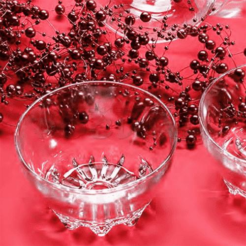 Сервиз стъклени купи 10,4см. Azalia/купи за десерти,ядки