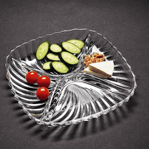 Стъклено плато за няколко ястия/чиния за ордьоври