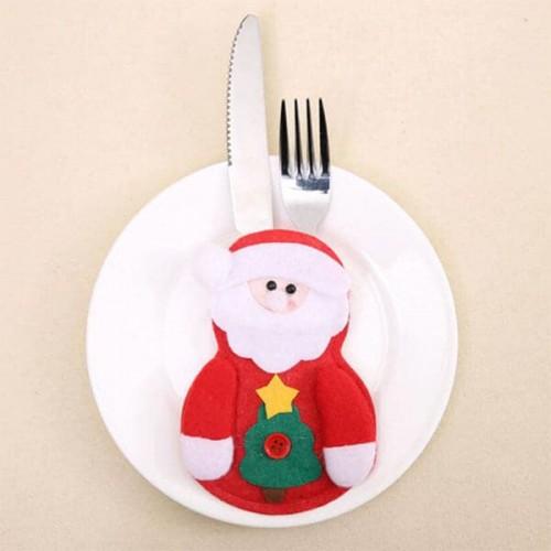 Коледен калъф за прибори за хранене/коледна декорация за трапезата