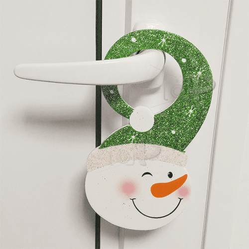 """Коледна украса за закачане на врата """"Снежко"""""""