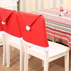 Коледен калъф за кухненски стол