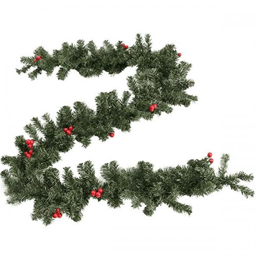 Коледен клон с червен грозд 250см.