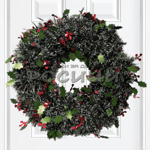 Коледен венец  за врата 38см./коледна украса за врата