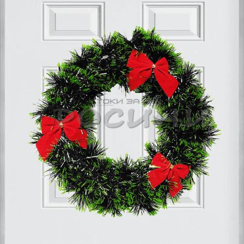 Коледен венец за врата 22см./коледна украса за врата