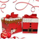 Коледна кутия за подаръци 21см.