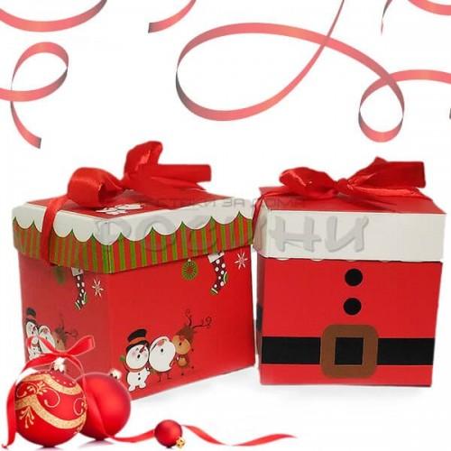 Коледна кутия за подаръци 15см.