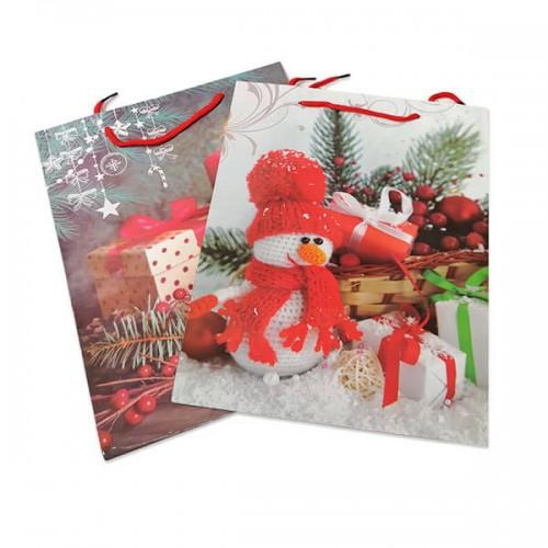 Коледна,подаръчна торбичка 35x25см.