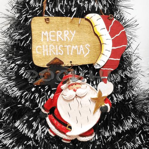 Коледна табелка за врата с Дядо Коледа