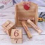 Календар от кубчета/дървен календар с дата