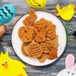 Комплект форми Великден 4 броя резци за сладки с печат и бутало