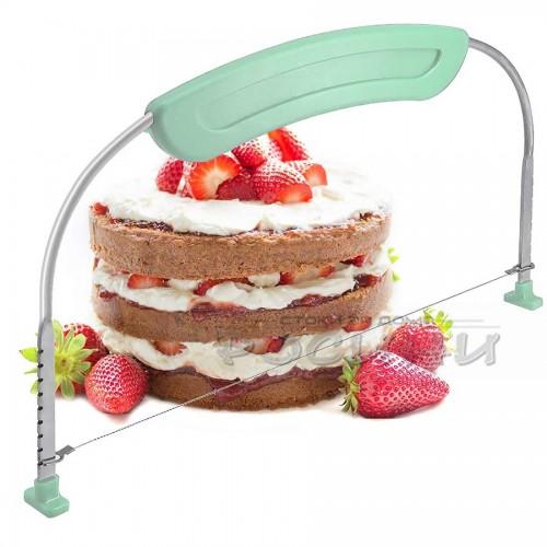 Уред за рязане на блатове за торта с дръжка/лък за блатове