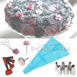 Сладкарски комплект за декорация на торти, сладкиши, кексчета/комплект за декорация от 10 части