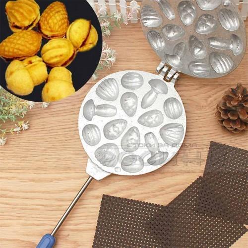 Преса за сладки комбинирана за миди, орехчета, шишарки, гъбки 14 бр. без пълнеж