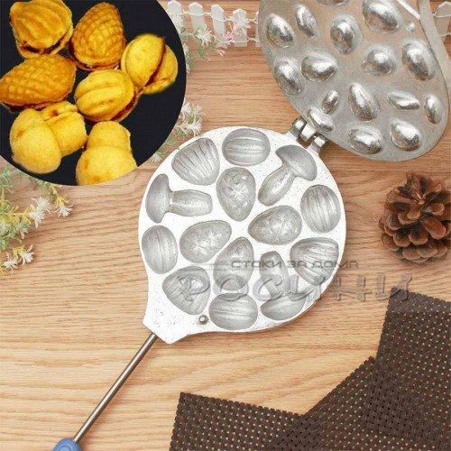 Преса за сладки комбинирана за миди, орехчета, шишарки, гъбки 14 бр. черупки с пълнеж