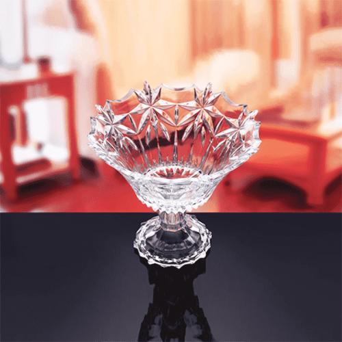 Стъклена фруктиера на столче 850712W