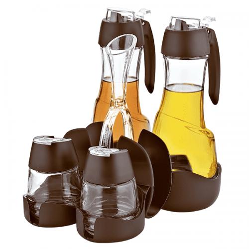 Оливерник 4-ка в кафяво/съдове за съхранение и овкусяване