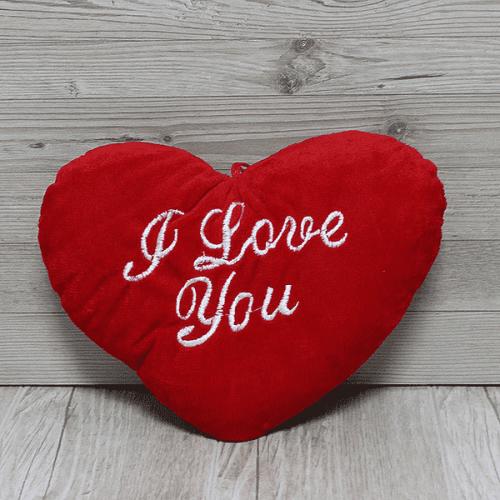 Плюшено сърце с надпис ОБИЧАМ ТЕ/подарък за Свети Валентин