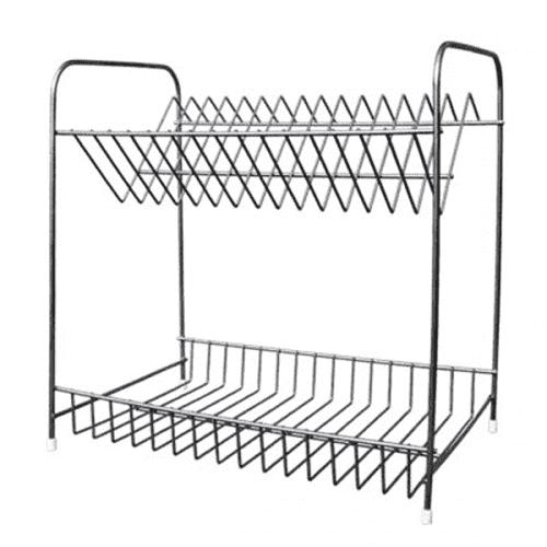 """Сушилник за чинии две нива """"Никел""""/метален сушилник за съдове"""