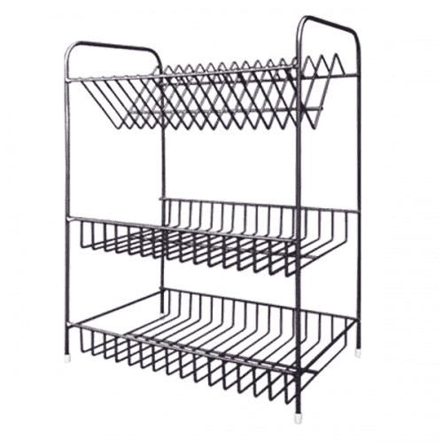 """Сушилник за чинии три нива""""Никел""""/метален сушилник за съдове"""