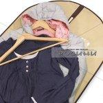 Калъф за съхранение на дрехи с цип, 60х100 см, бежов, непрозрачен