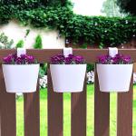 Саксия за парапет, ограда Verona Червена