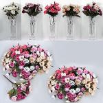 Изкуствен букет Разцъфнали рози/декоративни цветя