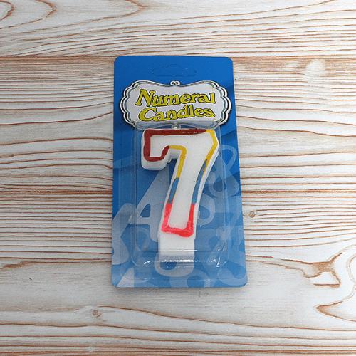 Свещ цифра 7 за рожден ден/свещи за торта числа