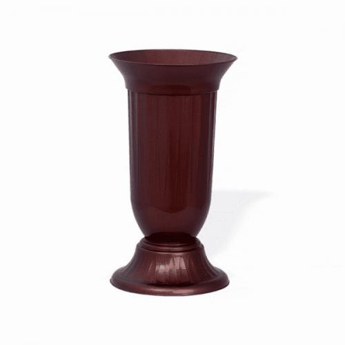 ПВЦ ваза в кафяво 29см