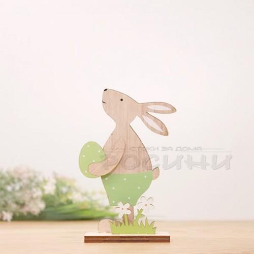 Великденски дървен заек с яйце/малък