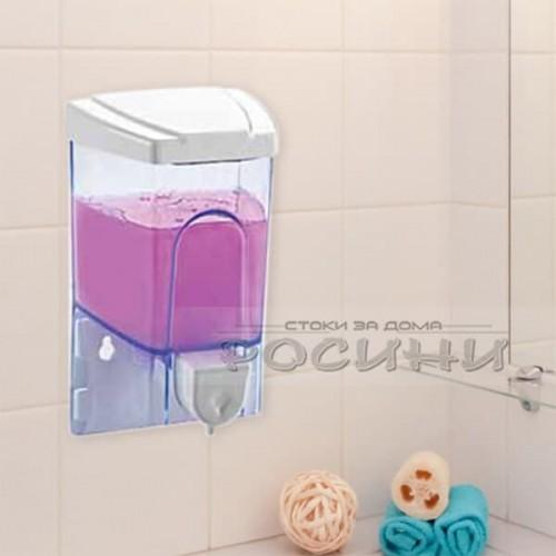 Дозатор за течен сапун 0,5л. / Стенен диспенсър за сапун