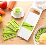 Кухненско ренде за зеленчуци с 5 приставки и държач