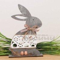 Великденски заек от дърво 29см.