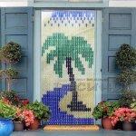 Цветни ресни за врата с палма