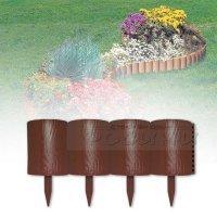Декоративна ограда за градина Пънче 1,53 м Тъмно кафява