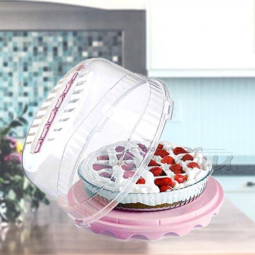 Кутия за торта, сладкиш 30 см./кутия за съхранение с капак и дръжка