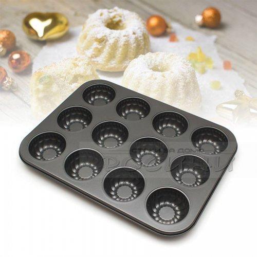 Тефлонова форма за мъфини 12 места Мини кексче