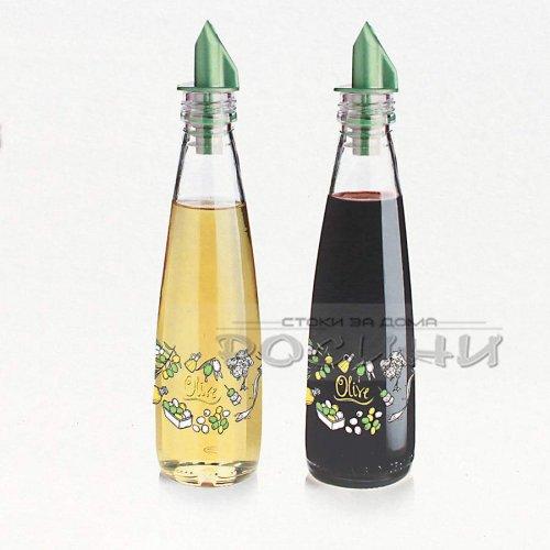 Стъклени дозатори за олио и оцет 2 бр.