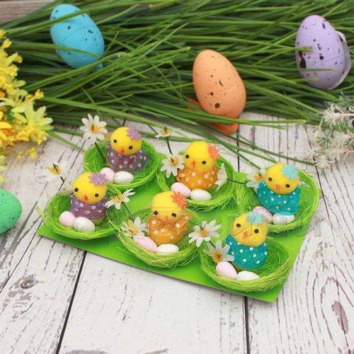 Пиленца с яйца в гнездо